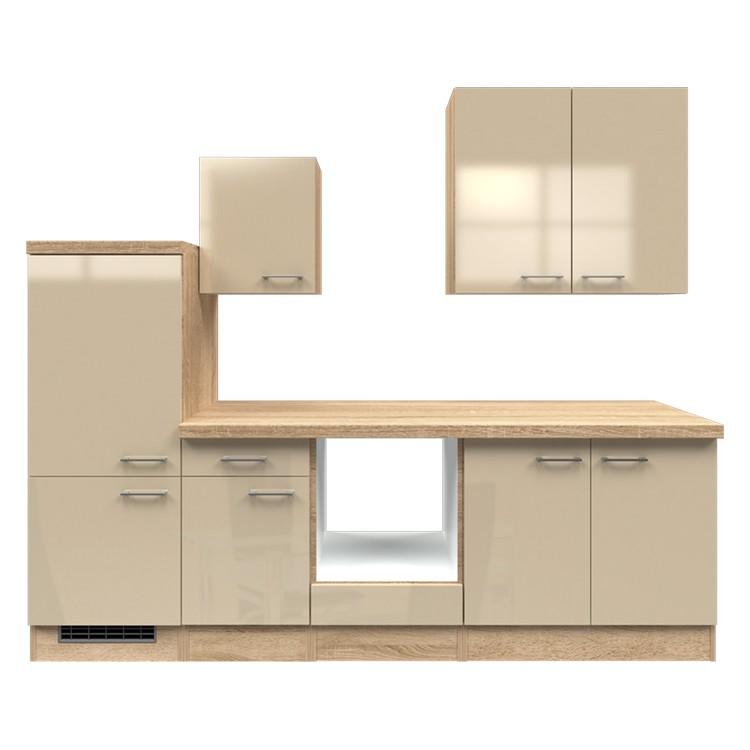 Küchenzeile Maira – Leerblock – 270 cm – Kaschmir – Eiche Sonoma Dekor, Modus Küchen jetzt bestellen