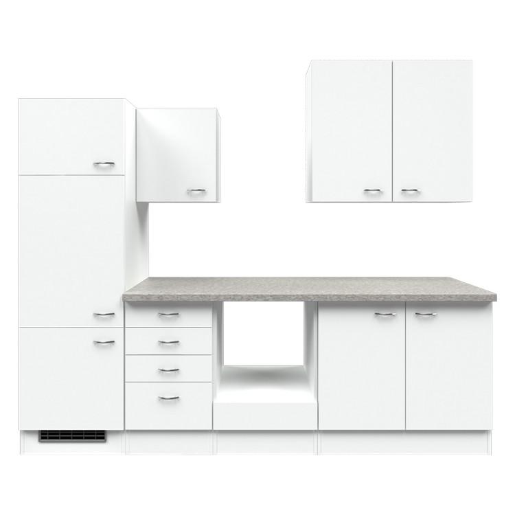 Küchenzeile Paale – Leerblock – 270 cm – Weiß / Weiß – Weiß / Weiß, Modus Küchen kaufen