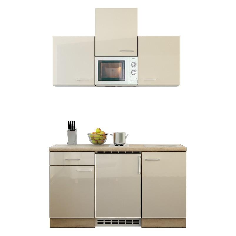 Küchenzeile Tobi – Einbaugeräte – Spüle – 150 cm – Kaschmir – Eiche Sonoma Dekor, Modus Küchen online kaufen