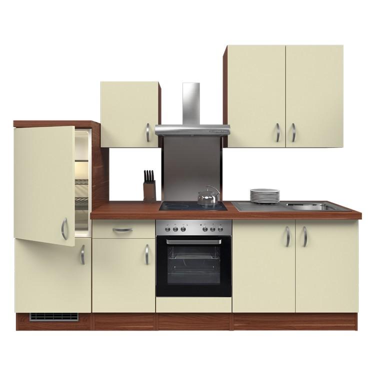 Küchenzeile Yves – Einbaugeräte – Spüle – 270 cm – Creme – Pflaume, Modus Küchen kaufen