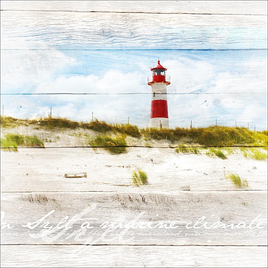 Kunstdruck Leuchtturm 30x30, Pro Art
