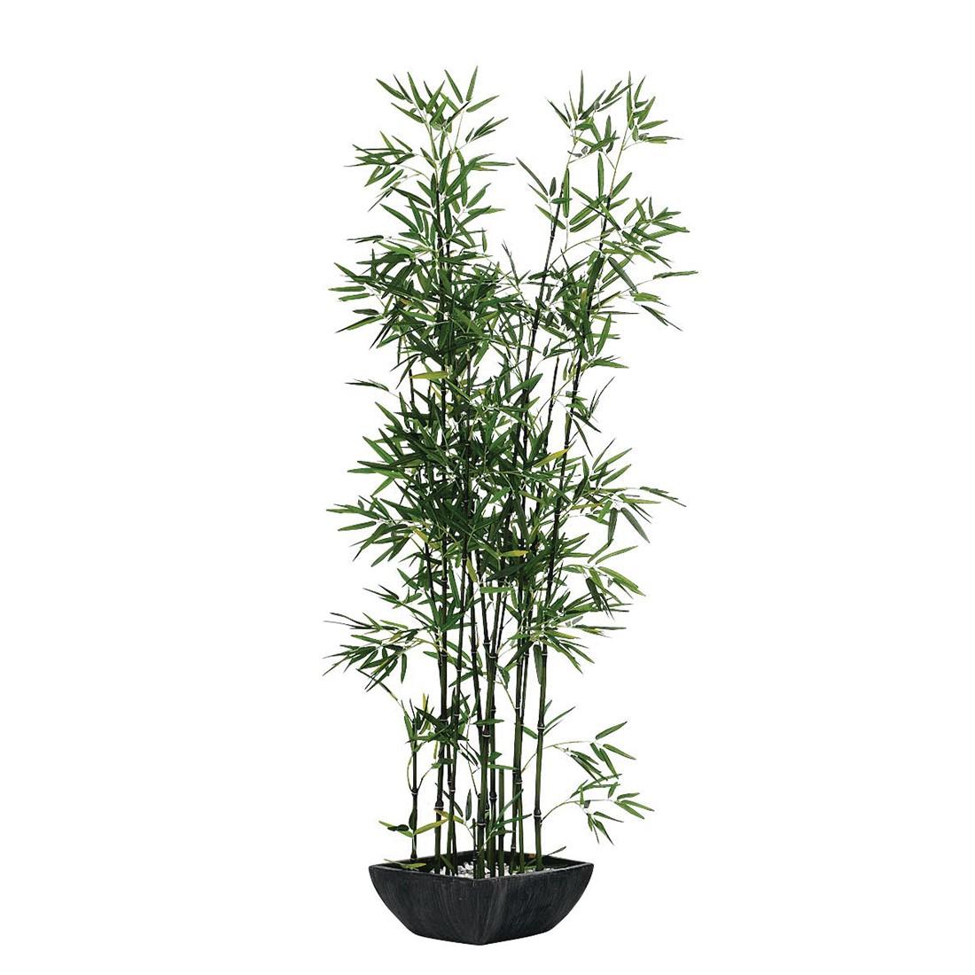 Kunstpflanze Bambus im Terrakottatopf – Textil – Grün, PureDay online kaufen