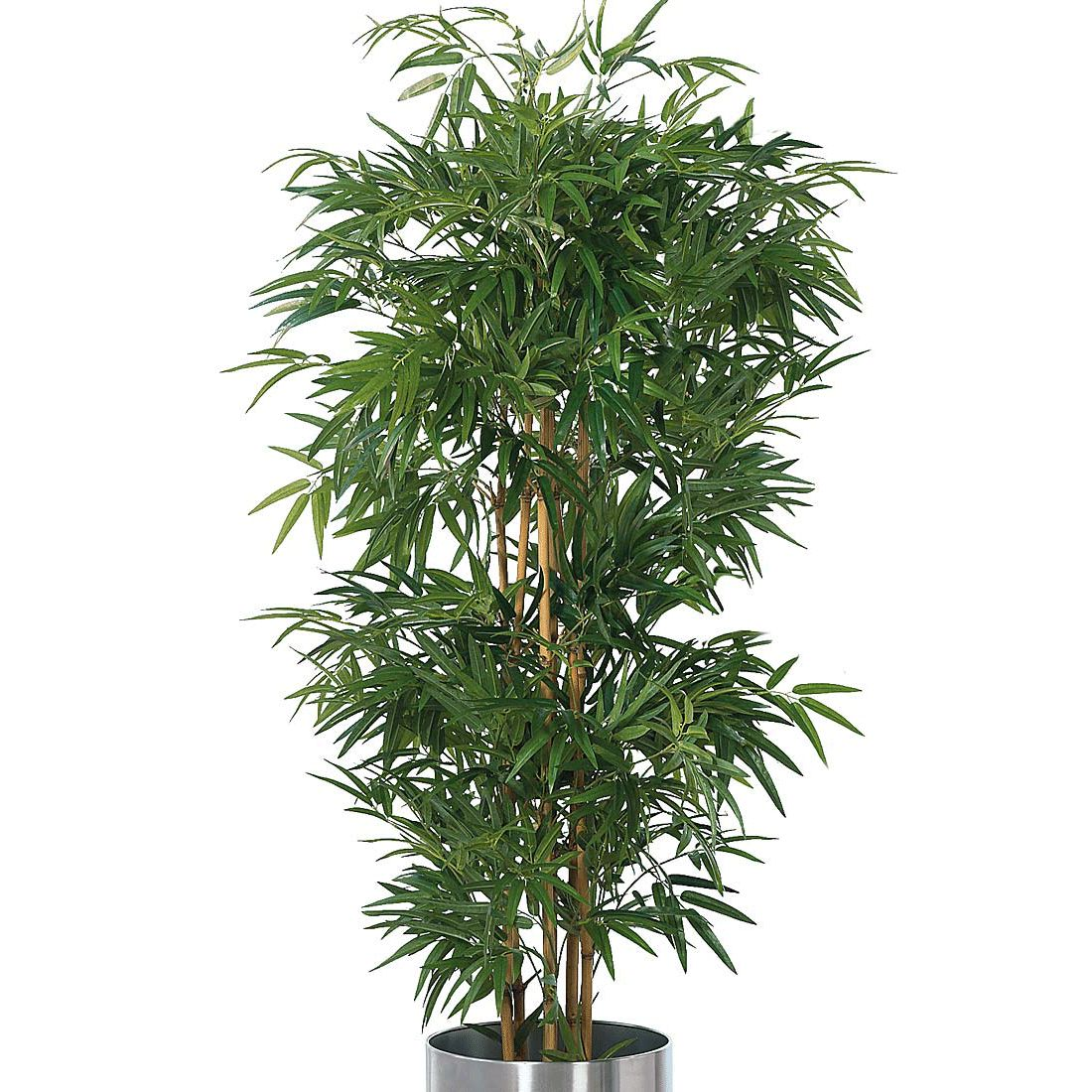 Kunstpflanze Bambusbaum – Textilgewebe – Grün, PureDay jetzt bestellen