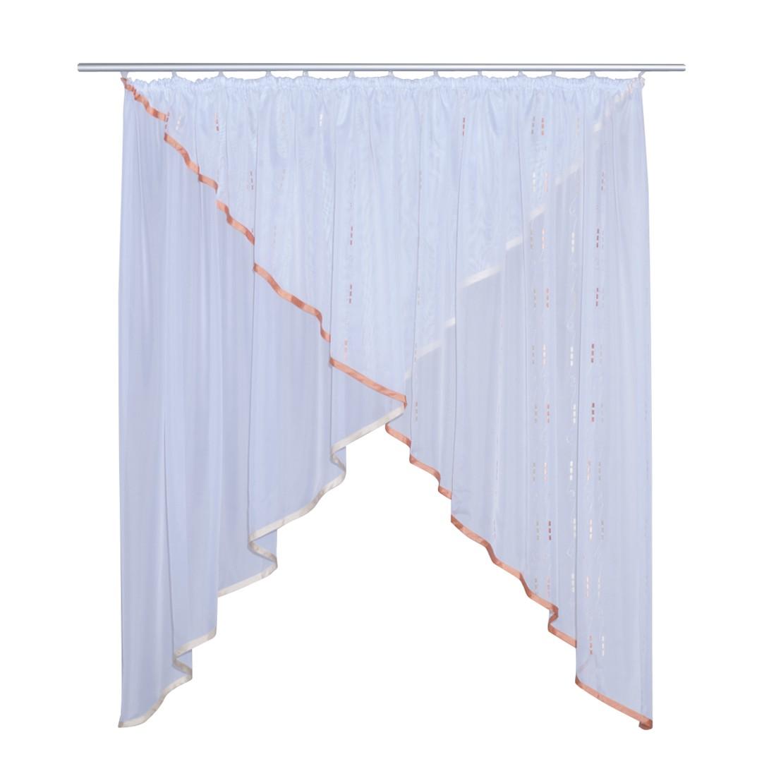 Kuvertgardine LINEA Terracotta-Gelb – 450 x 145 cm, Home24Deko günstig kaufen