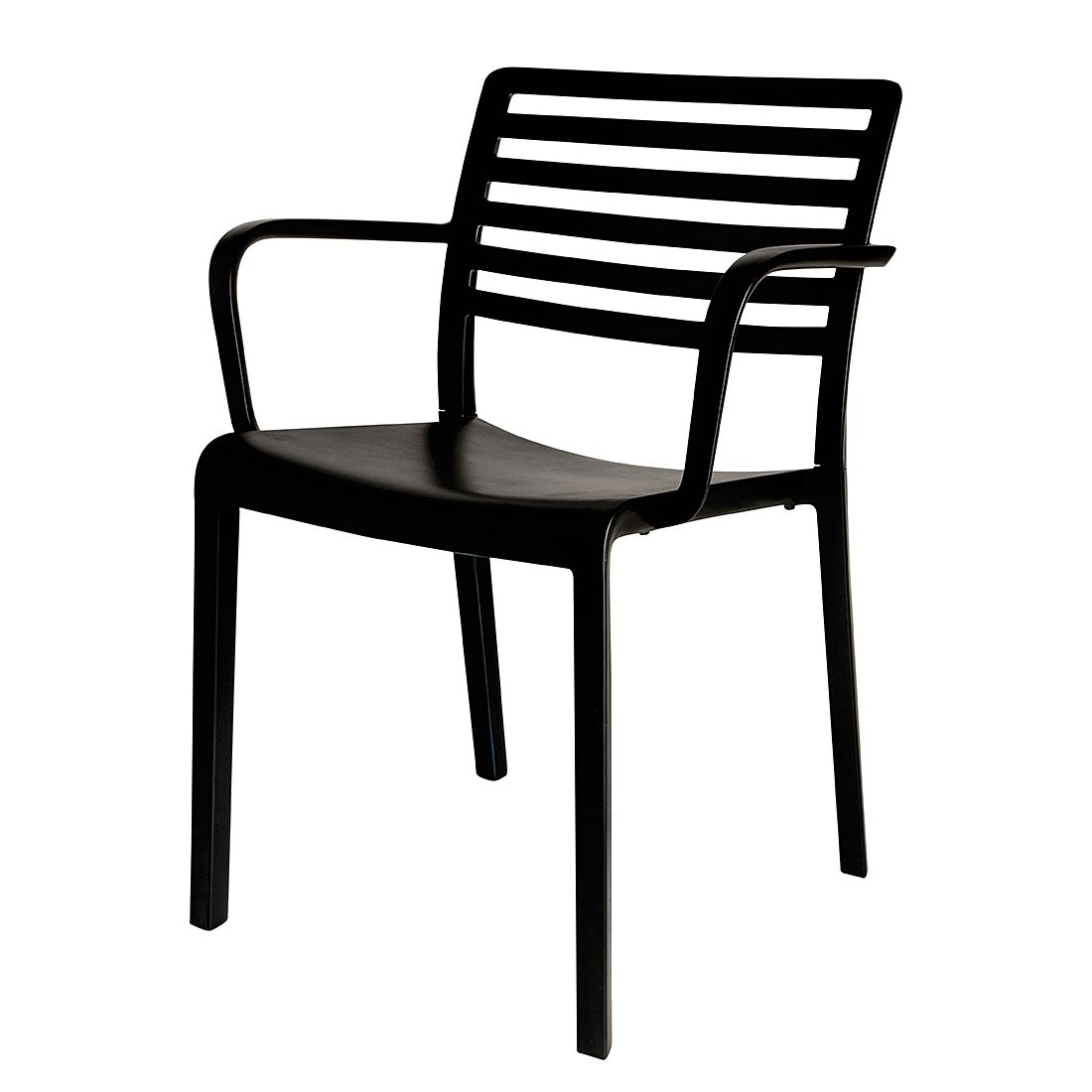 Armlehnenstuhl Lama (2er Set) – Kunststoff – Schwarz, Blanke Design bestellen