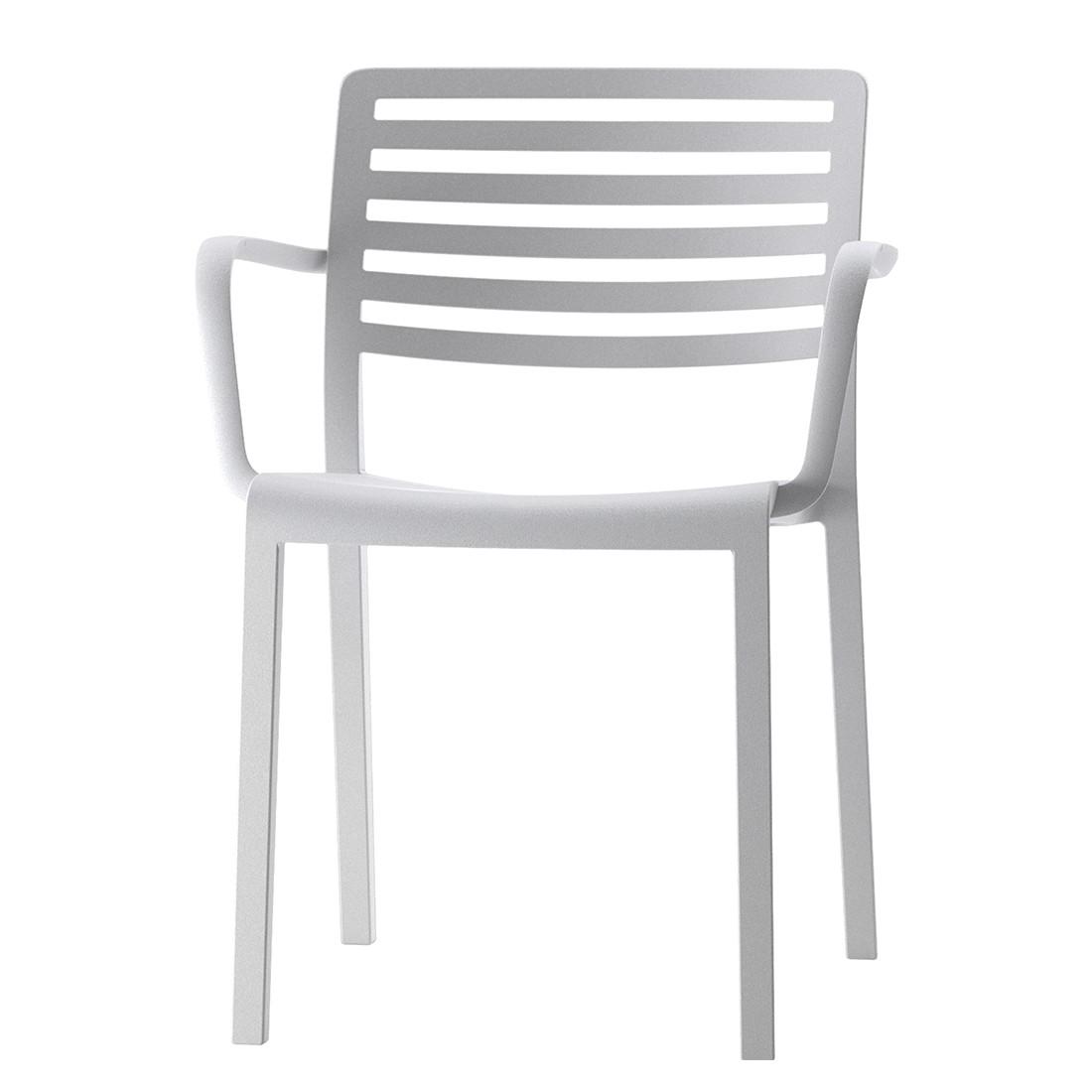 Armlehnenstuhl Lama (2er-Set) – Weiß, Blanke Design günstig