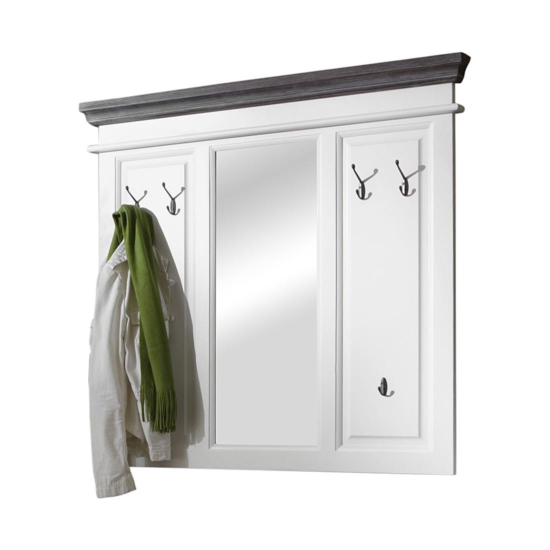 landhausgarderobe basilico wei graubraun fichte teilmassiv. Black Bedroom Furniture Sets. Home Design Ideas