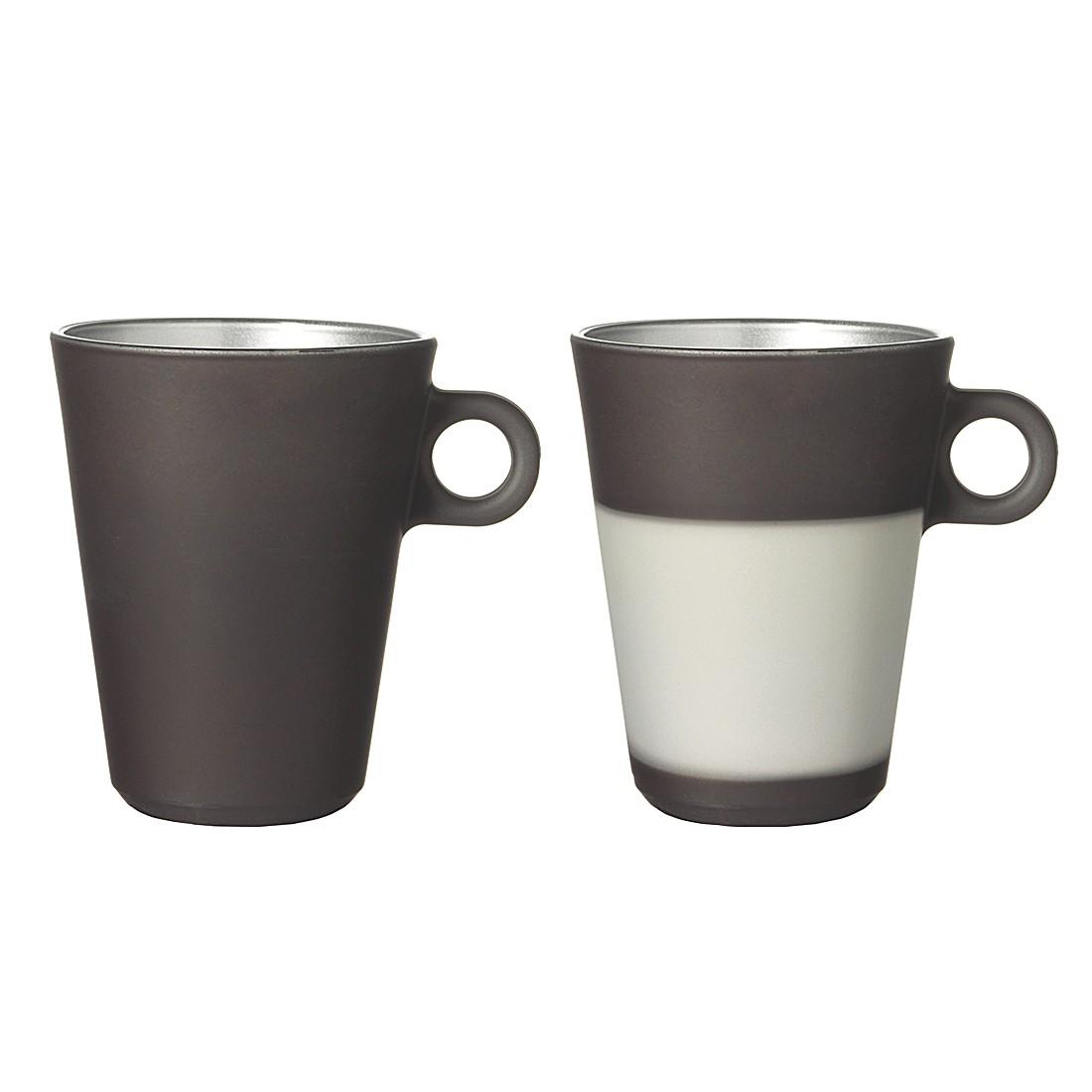 Latte Macchiato Glas Ooh Magico (2er-Set) - Grau Metallic, Leonardo