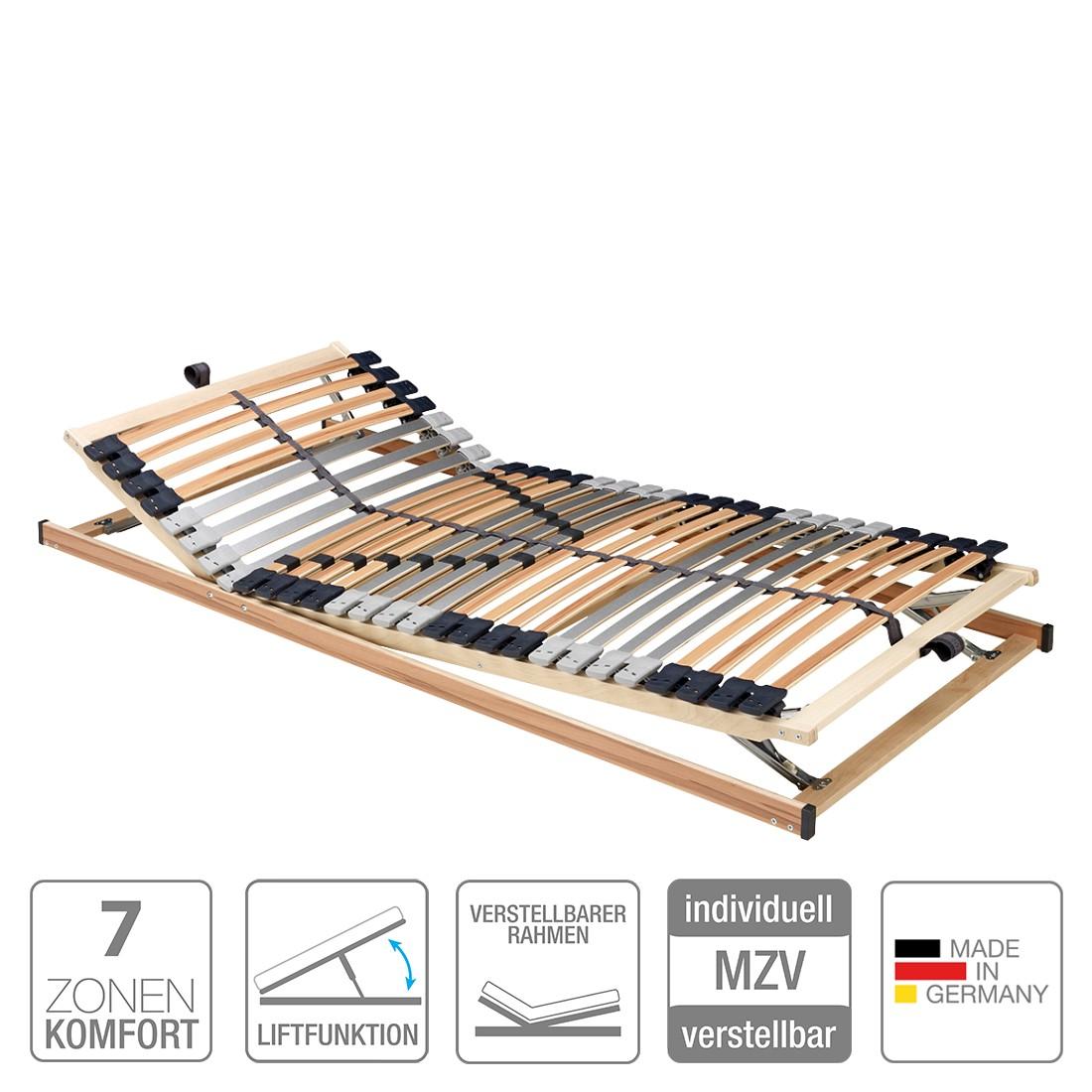 Lattenrost Prima (Gasdruckfeder, 7 Zonen) - verstellbar - 90 x 200 cm, Nova Dream Sleepline