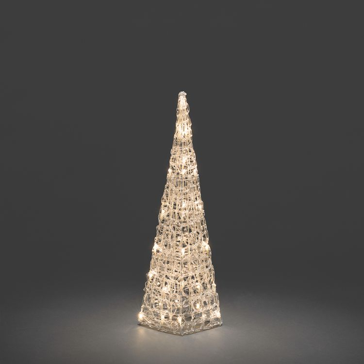 LED Acryl Pyramide ● Kunststoff/Acryl/Kupfer ● Leuchtfarbe: Warm weiß- Konstsmide