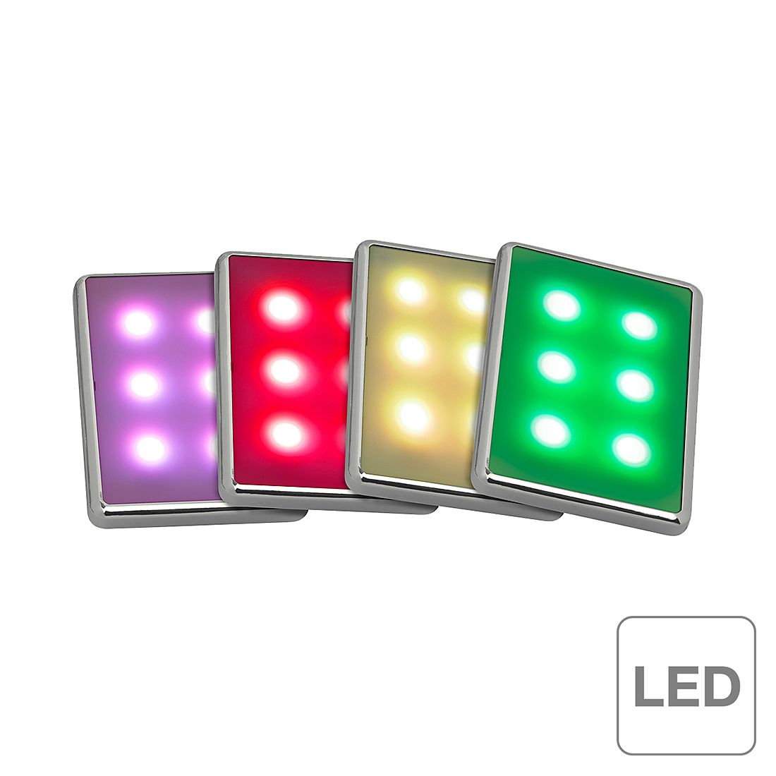 LED-Aufbauleuchtenset: Kiara ● 4-flammig- Brilliant A+