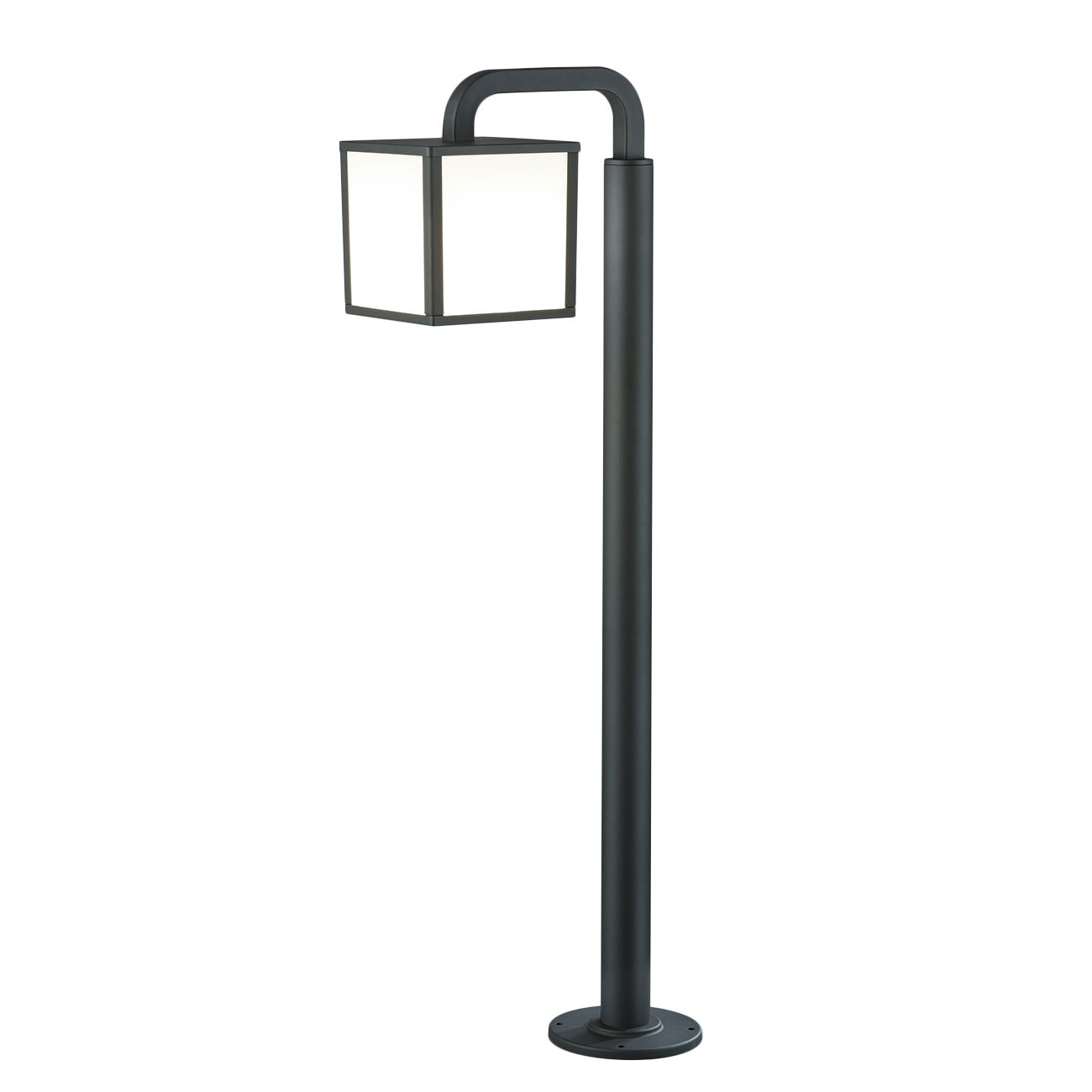 EEK A++, LED-Außenleuchte Cubango 1-flammig - Aluminium Kunststoff - Silber, Trio