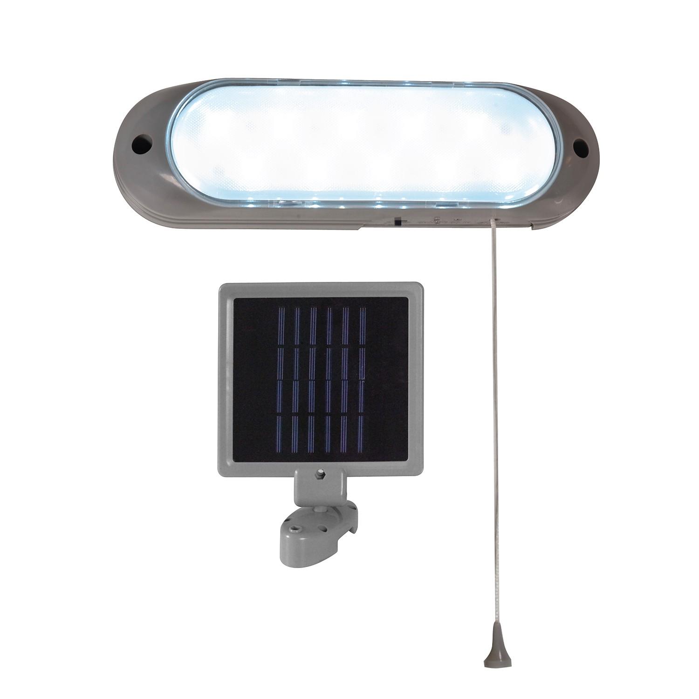 LED Außenleuchte Solarstation 10-flammig ● Grau Kunststoff- Näve A+