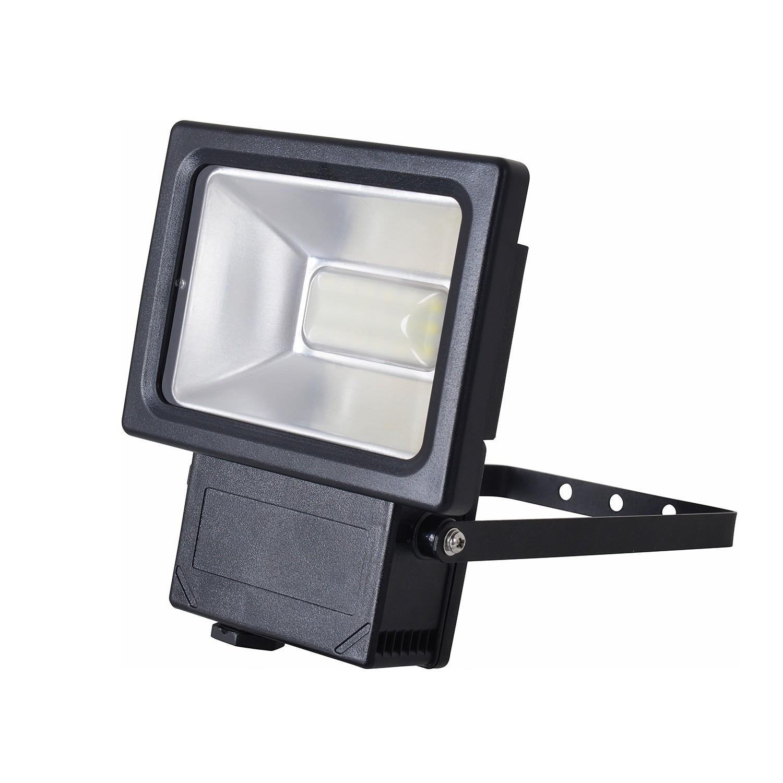 EEK A+, LED-Außenleuchte Strahler II 18-flammig - Grau Aluminium, Näve