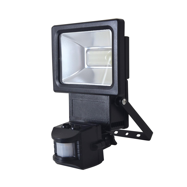 LED-Außenstrahler Bewegungsmelder 18-flammig ● Grau Aluminium- Näve A+