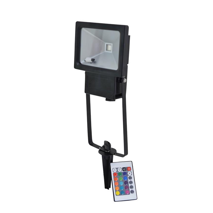 EEK A+, LED-Außenstrahler Farbwechsler 1-flammig - Grau Aluminium, Näve