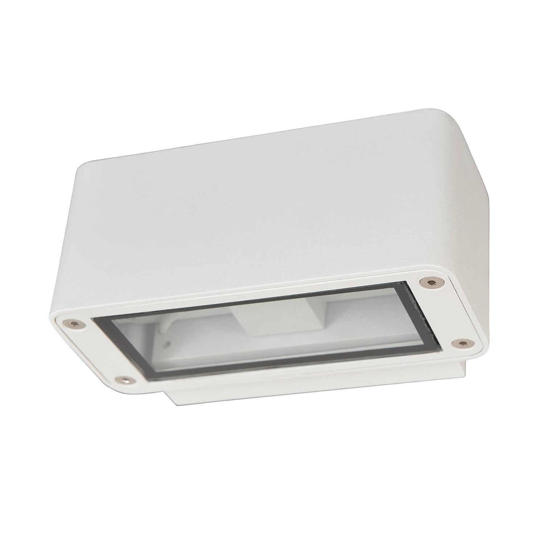 EEK A+, LED Außenwandleuchte 50/50 4-flammig - Weiß Aluminium, Näve