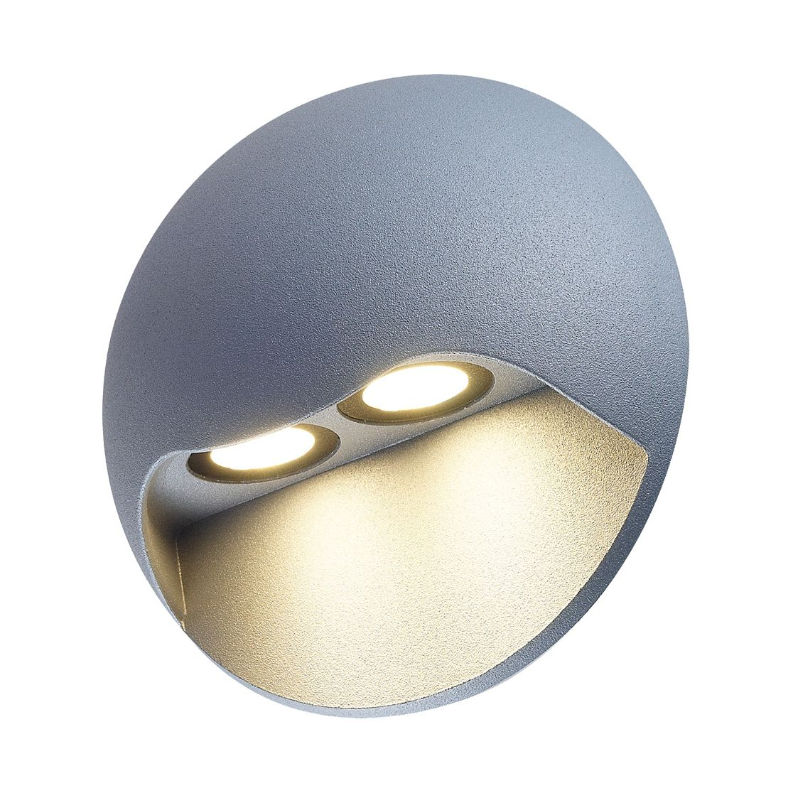 EEK A+, LED Außenwandleuchte Cycle II 2-flammig - Silber Aluminium, Näve