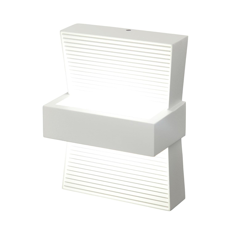 EEK A+, LED Außenwandleuchte Midway 1-flammig - Weiß Aluminium, Näve