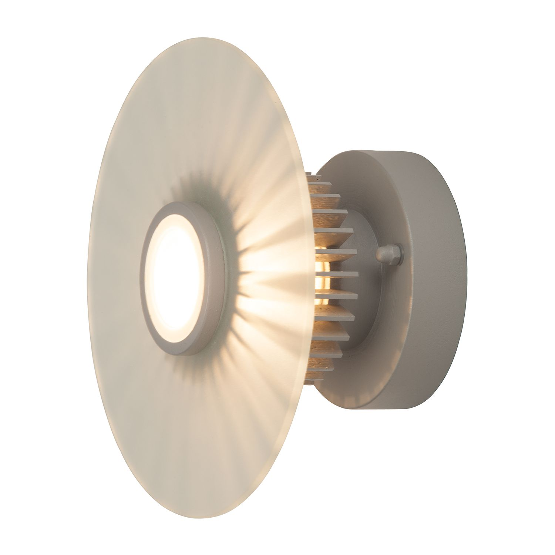 LED-Außenwandleuchte Mathis 1-flammig ● Grau Aluminium- Brilliant A++