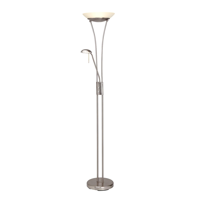 LED-Deckenfluter mit Lesearm Finn 2-flammig ● Silber Eisen- Brilliant A+