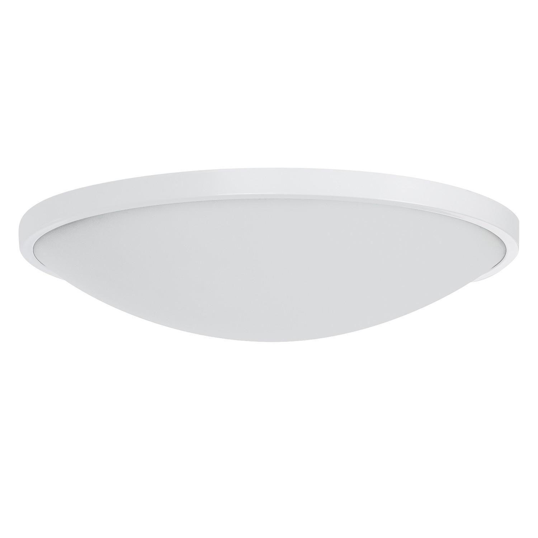 LED-Deckenleuchte Low ● Glas/Stahl ● Weiß ● 1-flammig- Lampadina A+