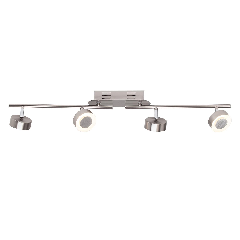 LED-Deckenleuchte Orban 4-flammig ● Metall Silber- Brilliant A+