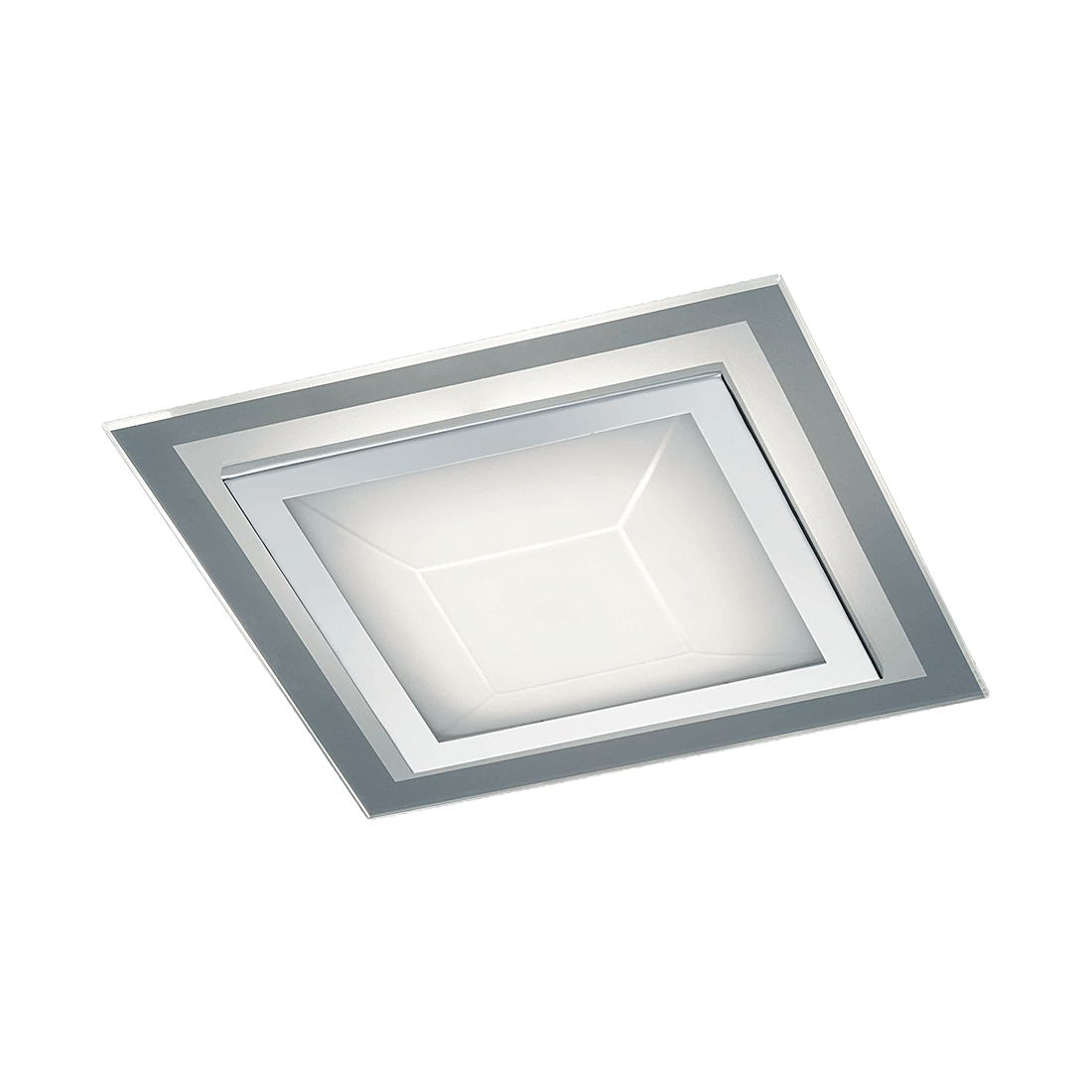 LED-Deckenleuchte Pyramid ● Chrom ● 1x12 W- Lux A+