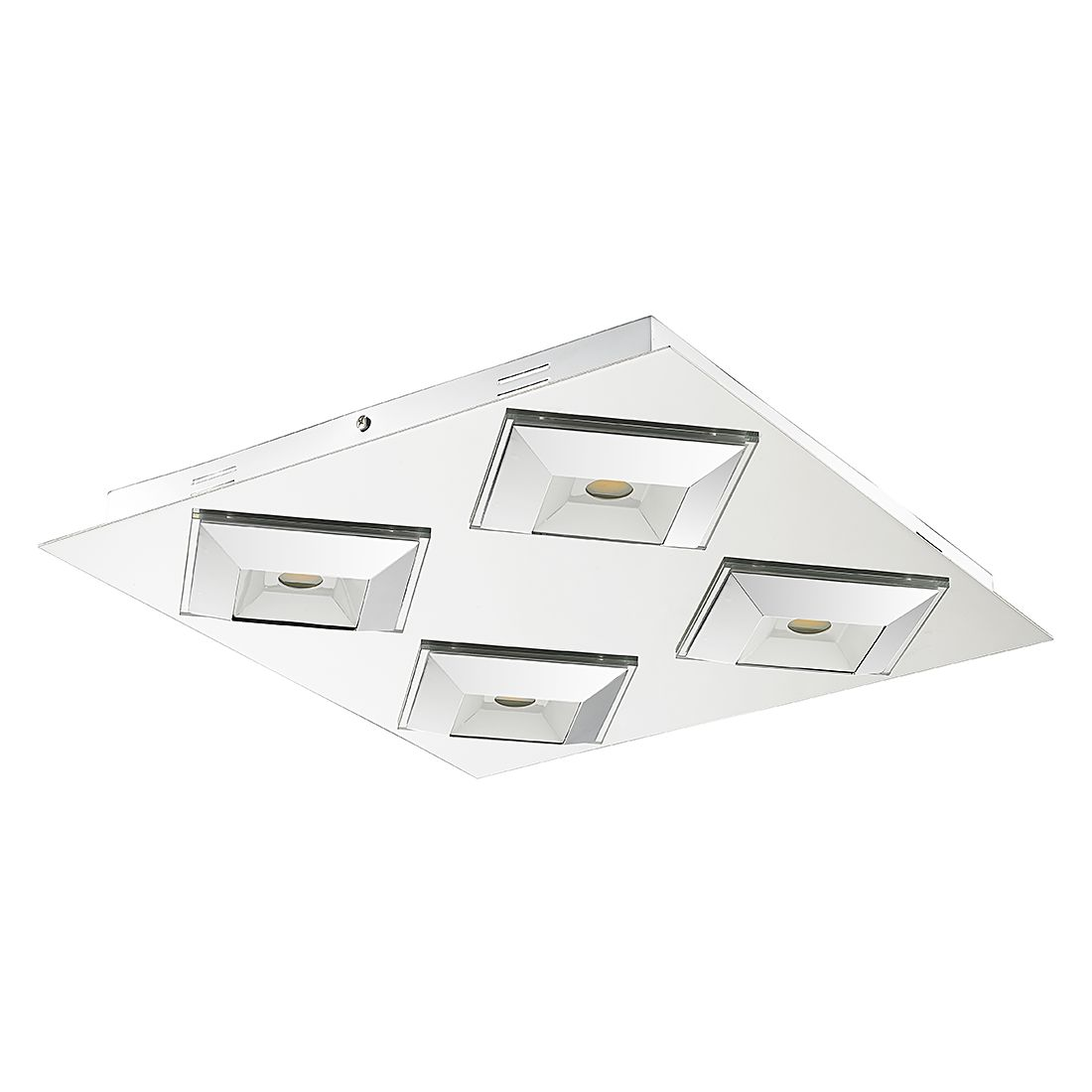 EEK A+, LED Deckenleuchte Senses – Metall – 4-flammig, Sorpetaler günstig