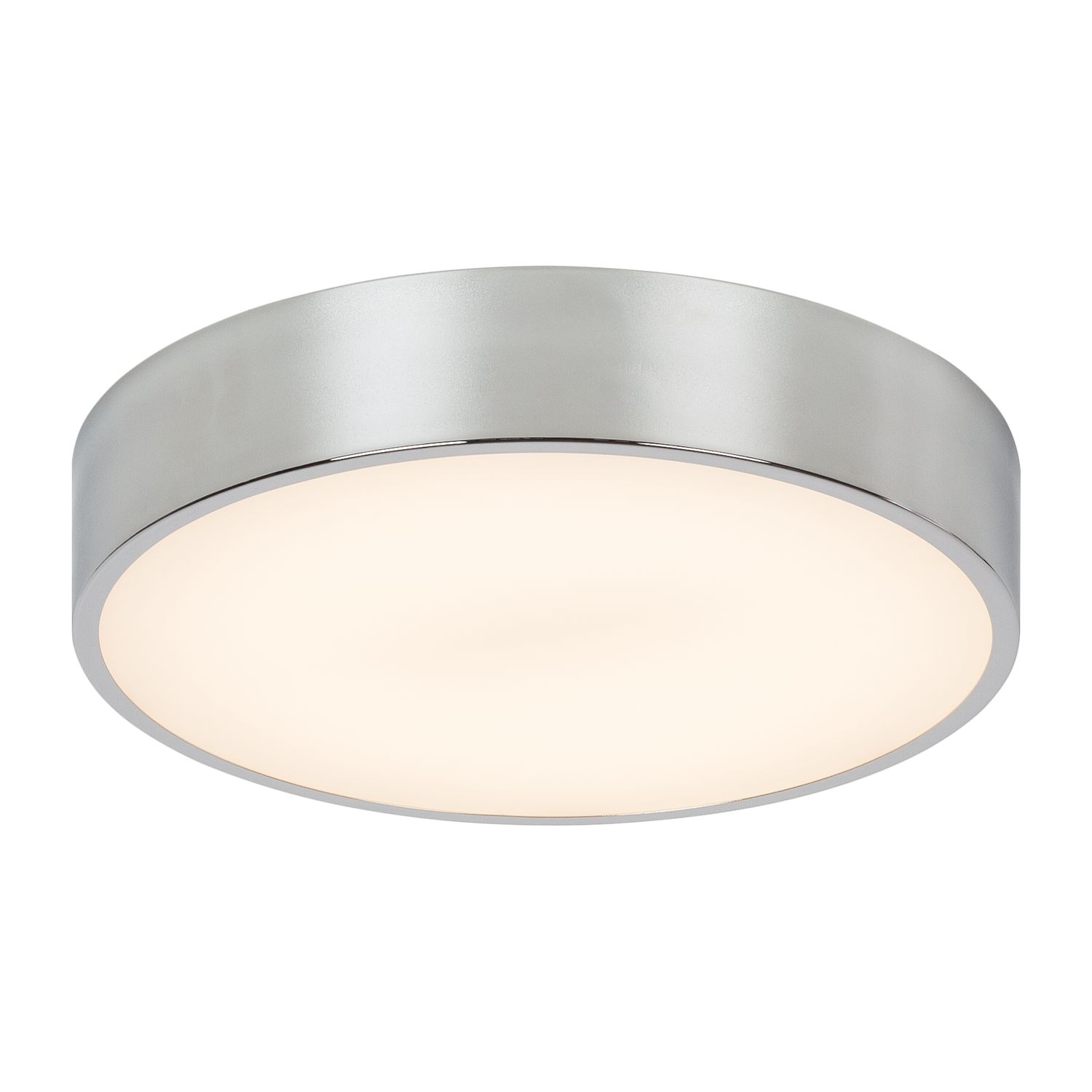LED-Deckenleuchte Smart by Micron ● Glas/Metall ● Silber- Lampadina A+