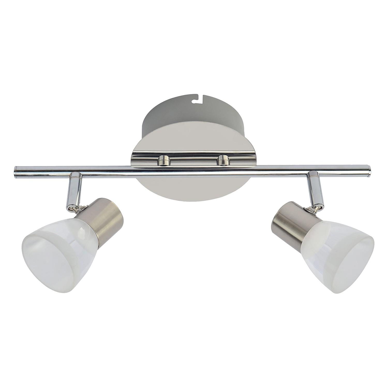 LED-Deckenleuchte Steele I ● Metall / Glas ● 2-flammig- Wofi A+