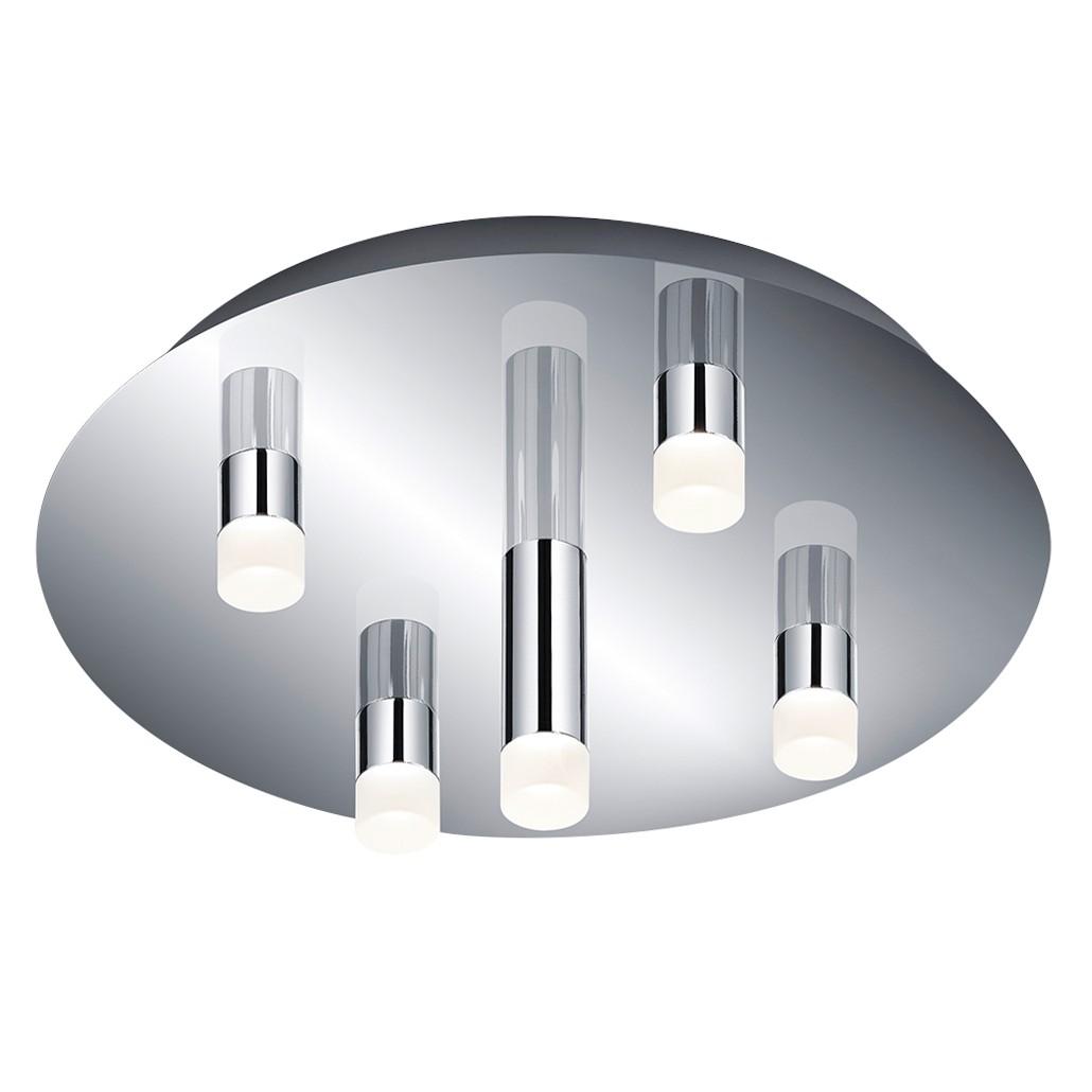 EEK A+, LED-Deckenleuchte Zidane - Metall / Acryl - 5-flammig, Trio