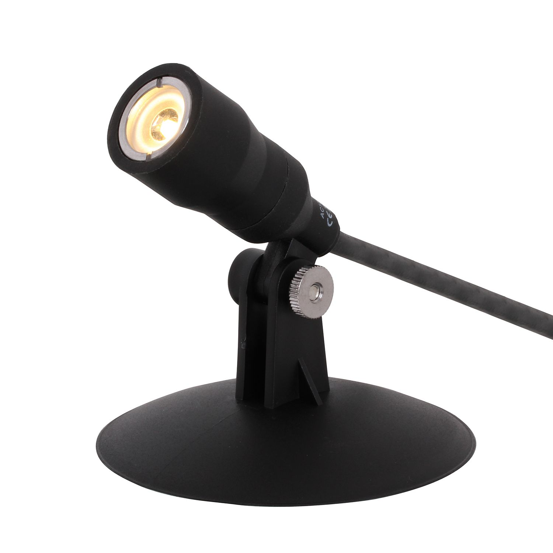 EEK A+, LED-Deko-Teichbeleuchtung 3-flammig - Schwarz Metall, Näve