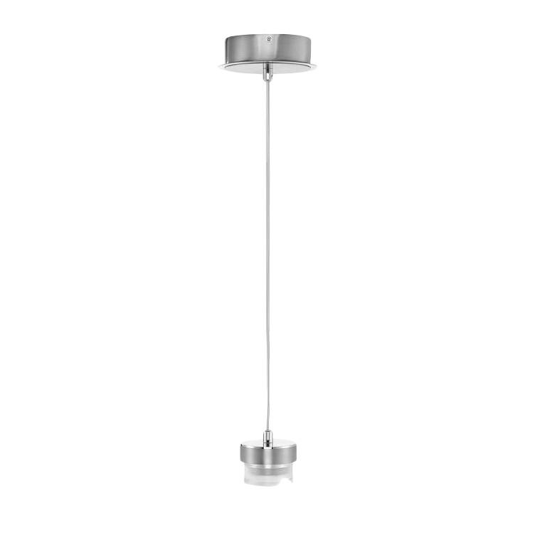 Pendelleuchten-Armatur 1-flg. Nickel matt-verchromt ● M6 Licht / Medium1-LED- Fischer Leuchten A+