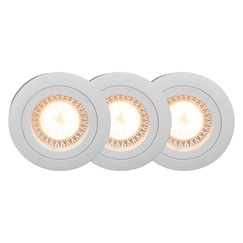 LED-Einbauleuchtenset 3er Easy Clip 3-flammig ● Weiß Metall- Brilliant A++
