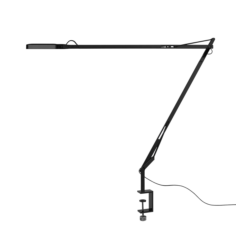 LED Kelvin ● mit Klemme ● Aluminium ● Schwarz- Flos