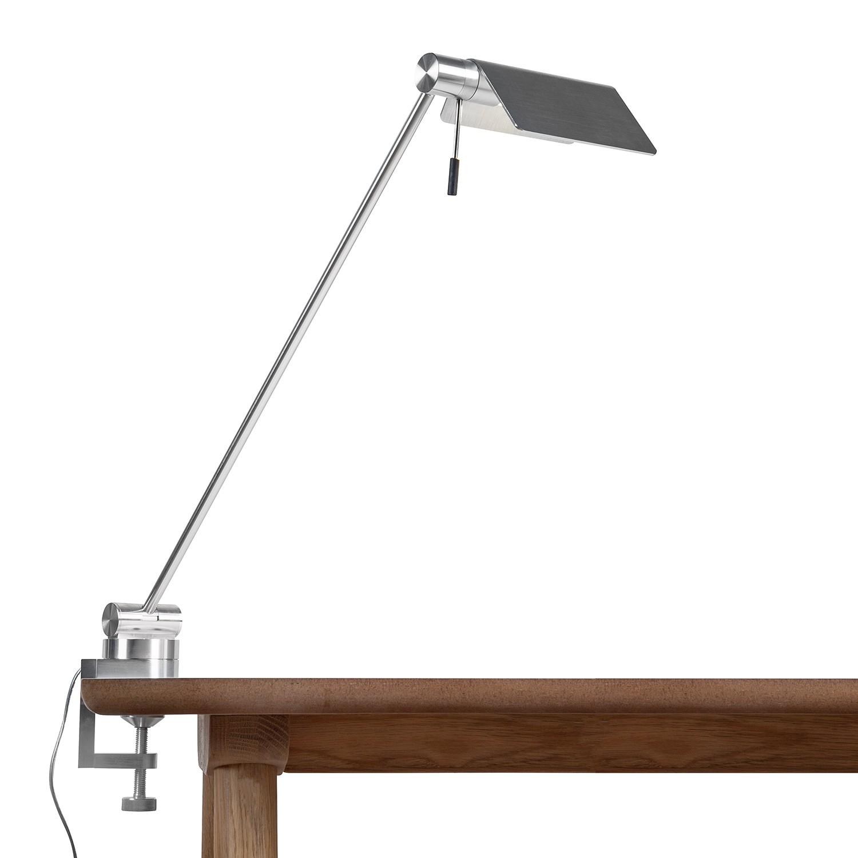 LED-Klemmleuchte Attik by Micron ● Aluminium/Glas ● Silber- Lampadina A+