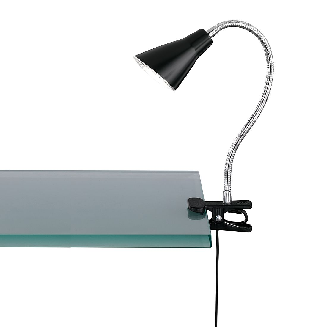 LED-Klemmleuchte ● Schwarz ● 1x4-2 W- Lux