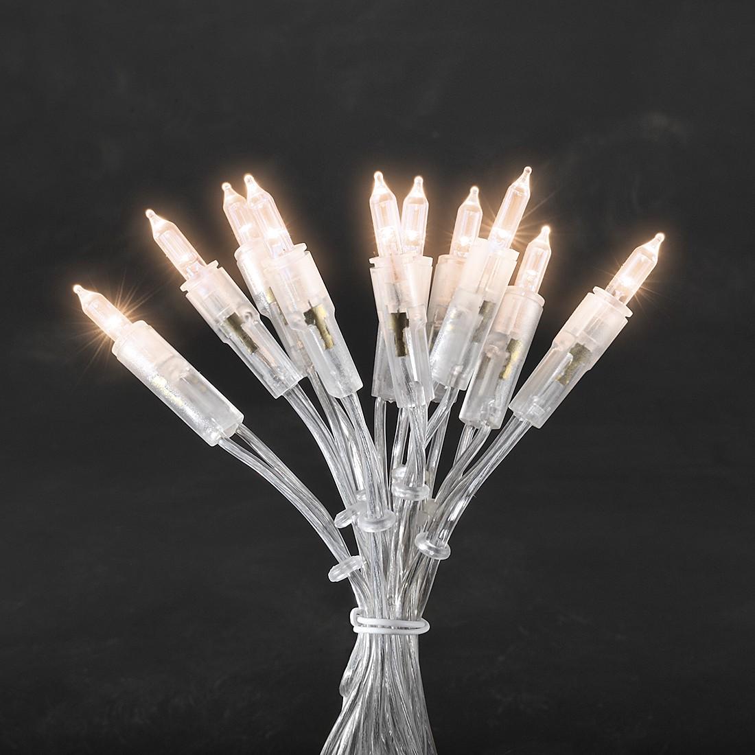 EEK A+, LED Minilichterkette - 50 Weiße Dioden - Innen - transparentes Kabel, Konstsmide