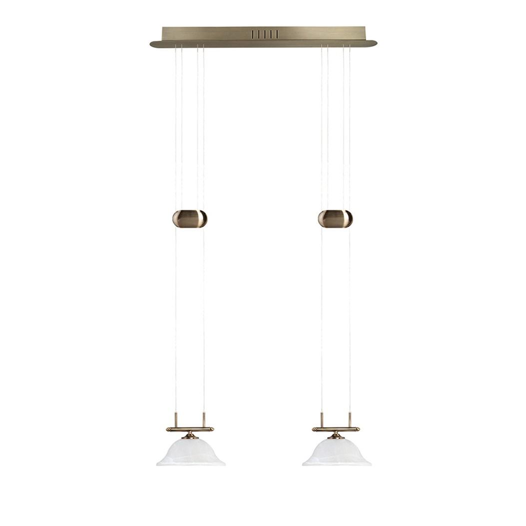 LED Pendelleuchte Alessia Altmessing ● Metall ● 2-flammig- Sorpetaler A+