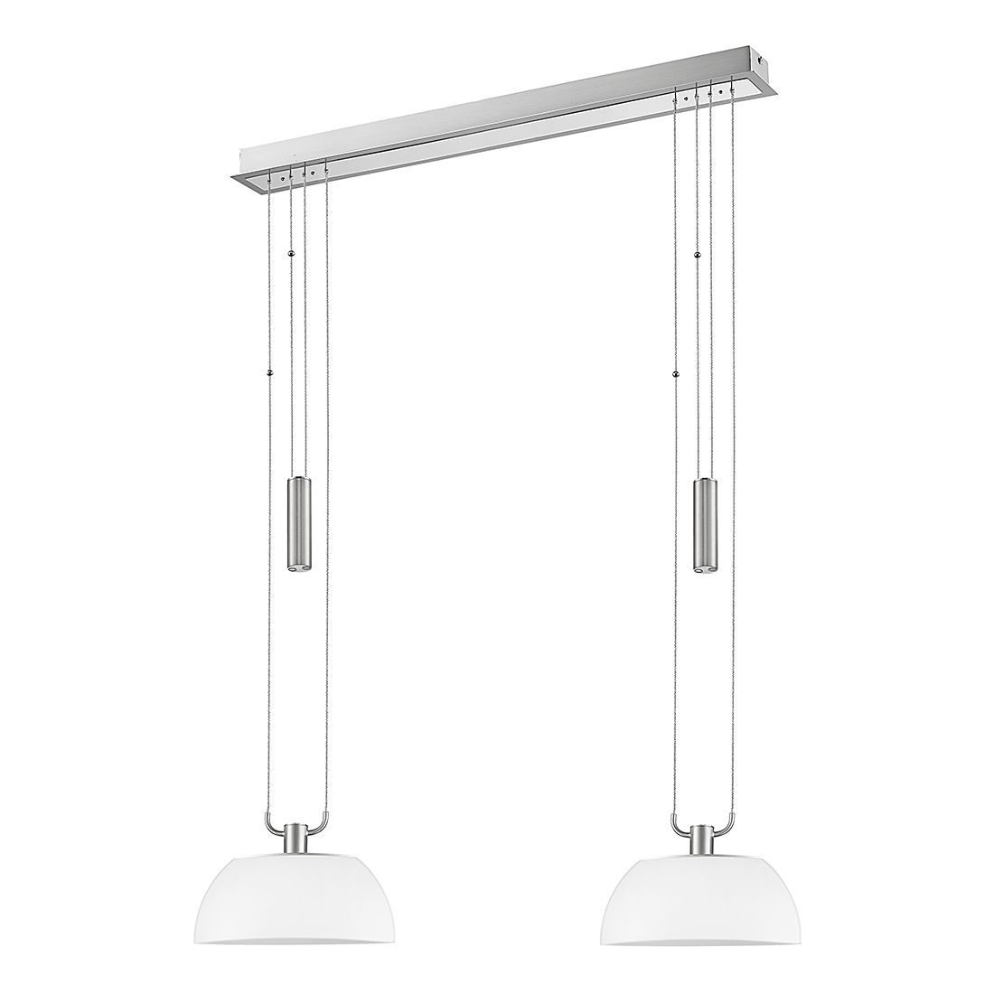 EEK A+, LED Pendelleuchte Ancona – Metall/Glas – 2-flammig, Sorpetaler günstig kaufen