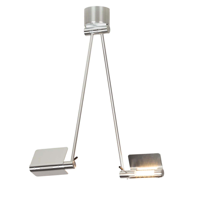 LED-Pendelleuchte Attik by Micron ● Aluminium/Glas ● Silber- Lampadina A+