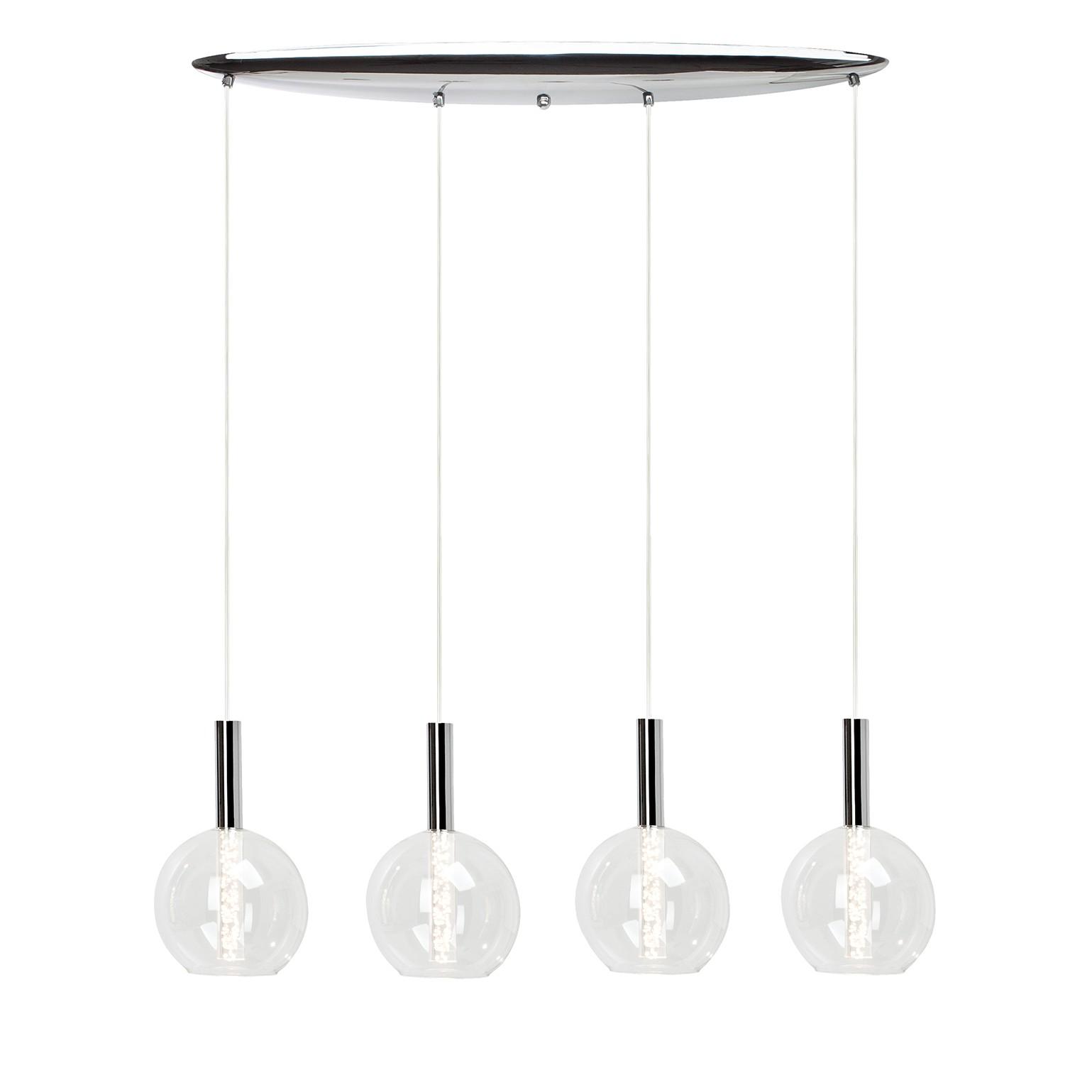 Lampen Kaufen Elegant Led Glhfaden Kaufen Oder Glhlampen: LED-Pendelleuchte Elegant 4-flammig Metall Silber