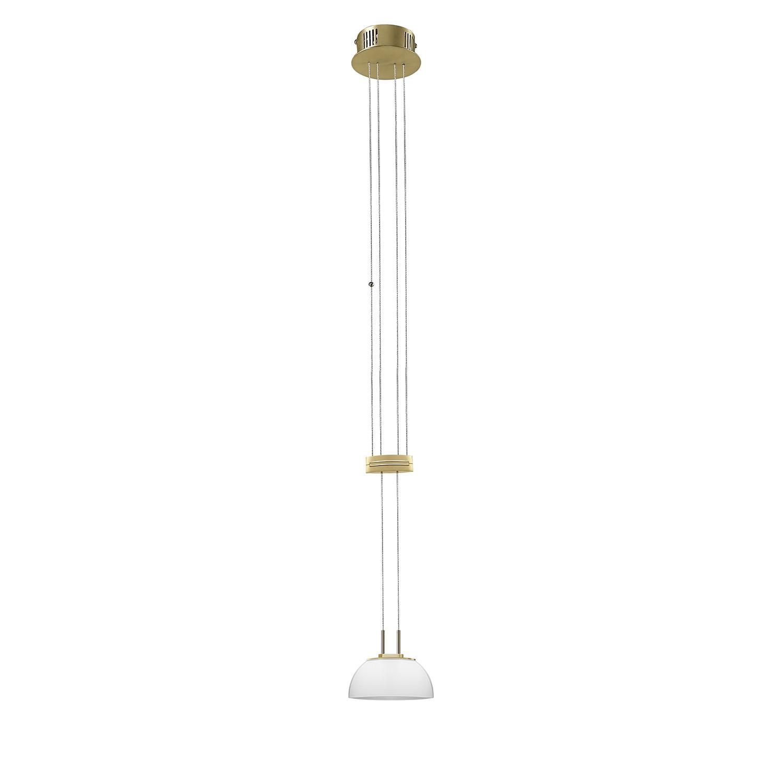 LED-Pendelleuchte Fernandez Messing & Glas ● 1-flammig- Sorpetaler A+