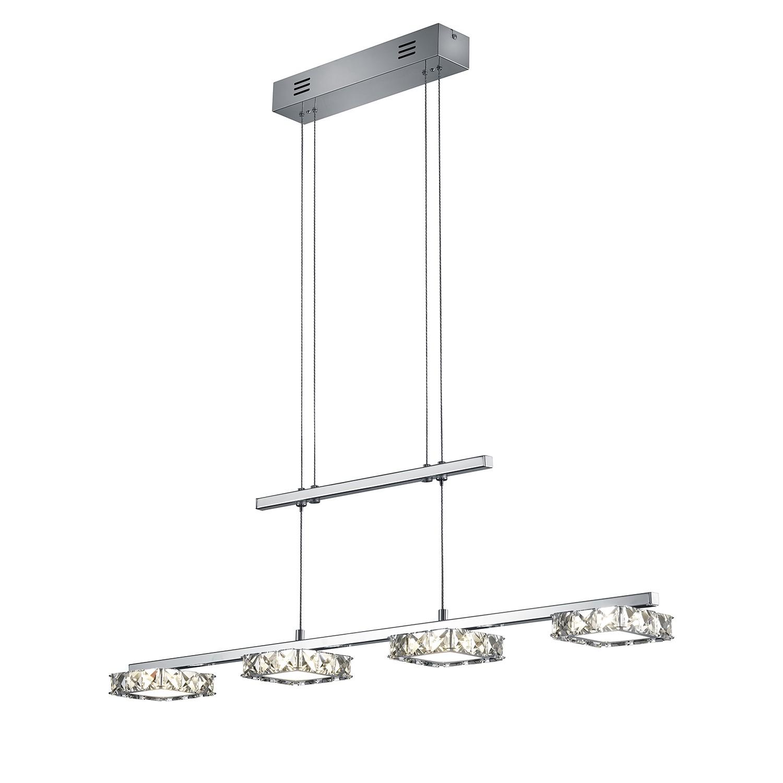 LED-Pendelleuchte Grenoble ● Metall / Glas ● 4-flammig- Trio A+