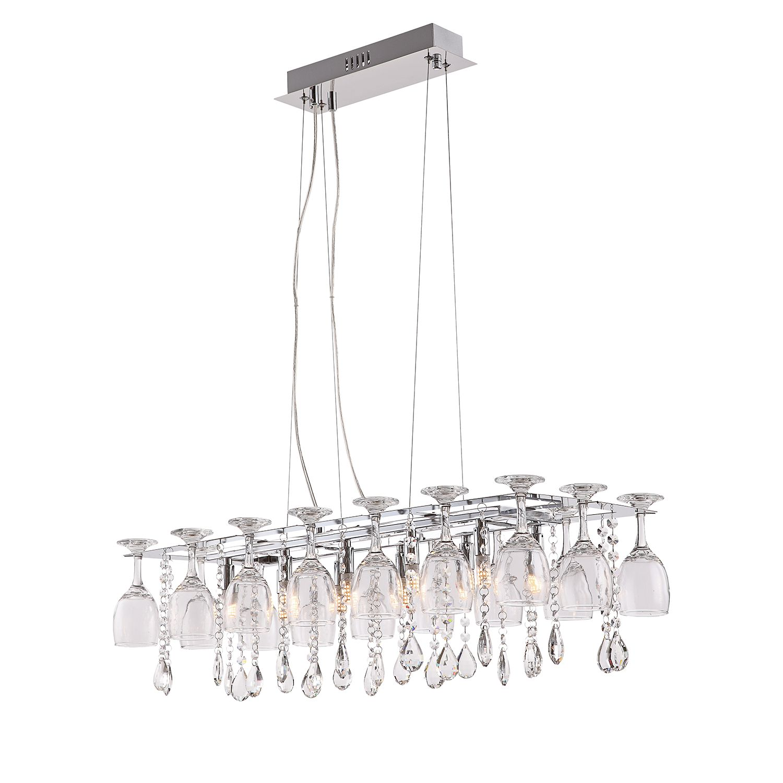 EEK A++, LED-Pendelleuchte Pamplona - Metall / Glas - 10-flammig, Globo Lighting