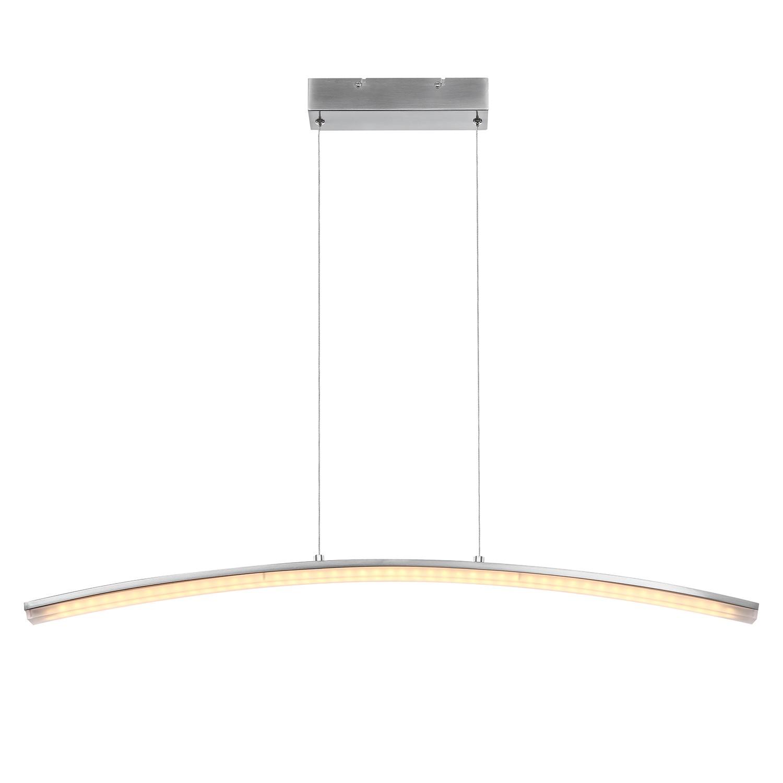 EEK A+, LED-Pendelleuchte Puglia - Metall / Kunststoff - Nickel Matt, Globo Lighting