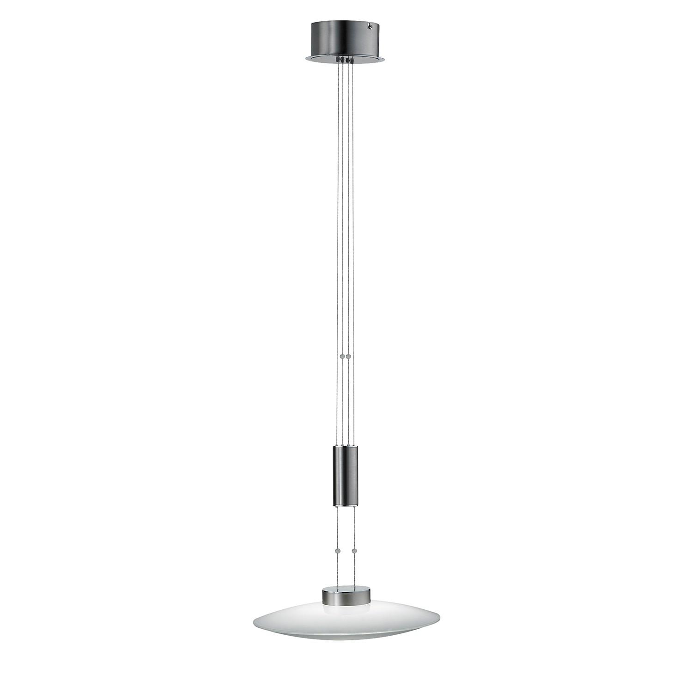 EEK A+, LED-Pendelleuchte SHINE-LED - Silber Matt, Fischer Leuchten