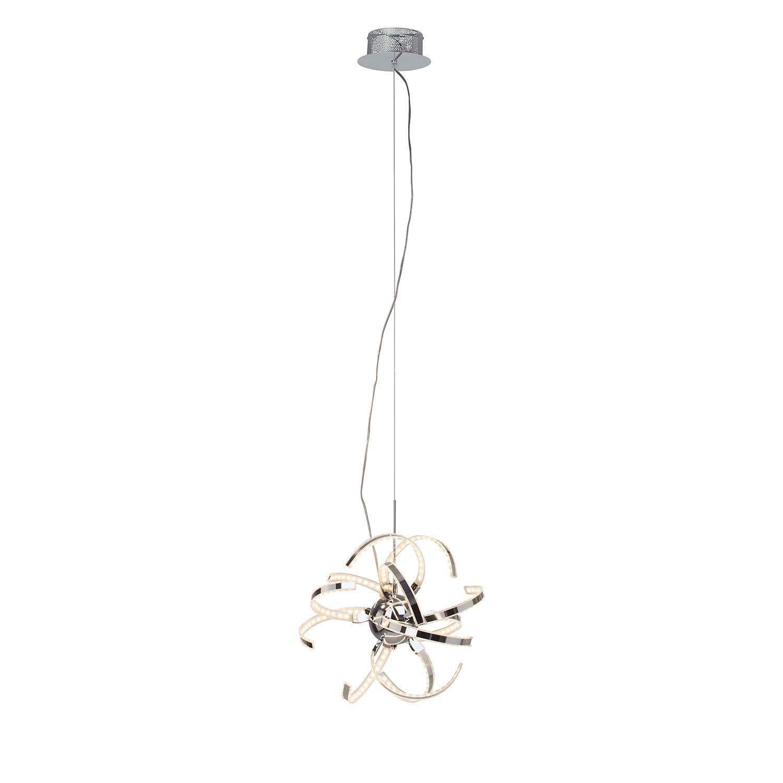 LED-Pendelleuchte Yunan 12-flammig ● Silber Metall- verchromt- Brilliant A+
