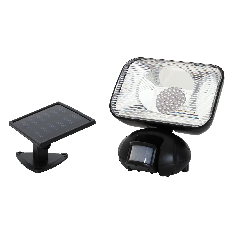 LED Solar-Außenstrahler 36-flammig ● Schwarz Kunststoff- Näve A+
